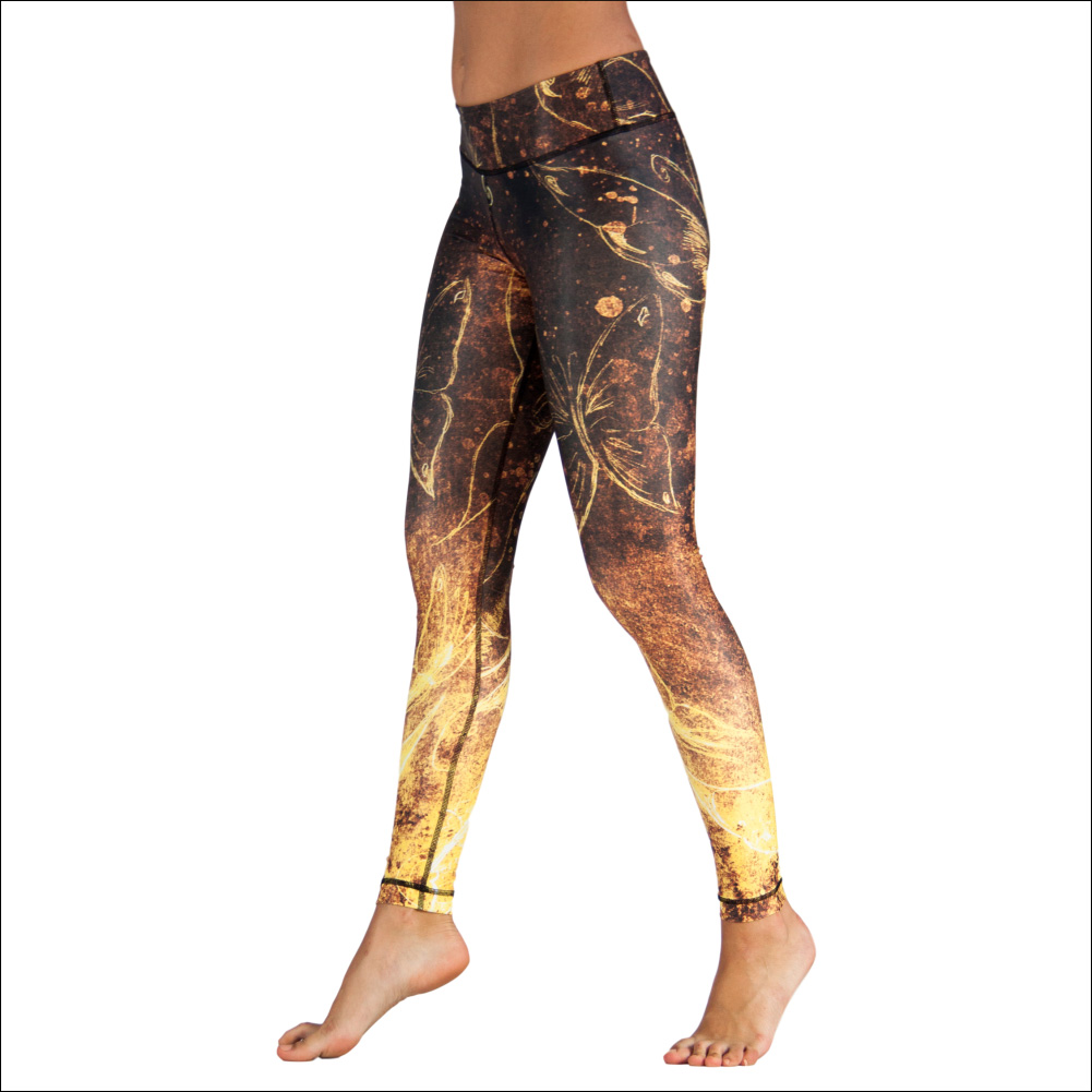 Niyama Yoga Pants Bell-Rock Butterfly