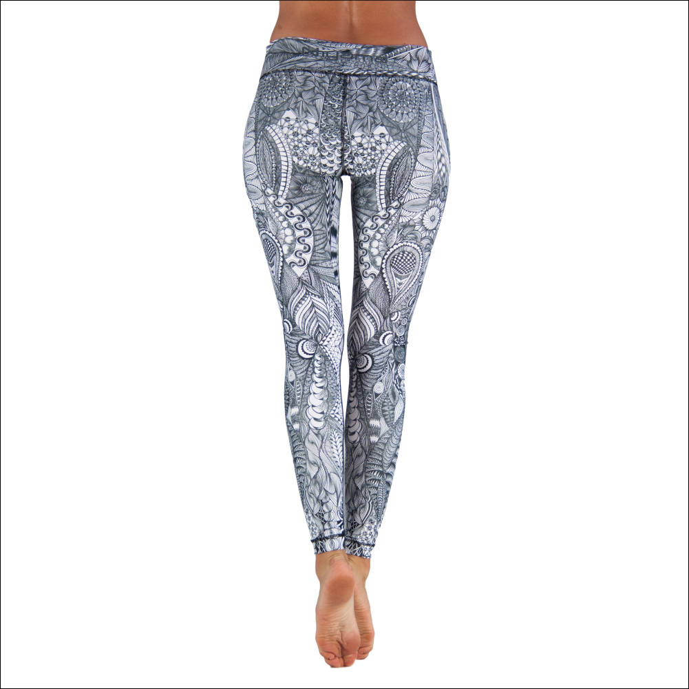 Niyama Yoga Pants Zentangle