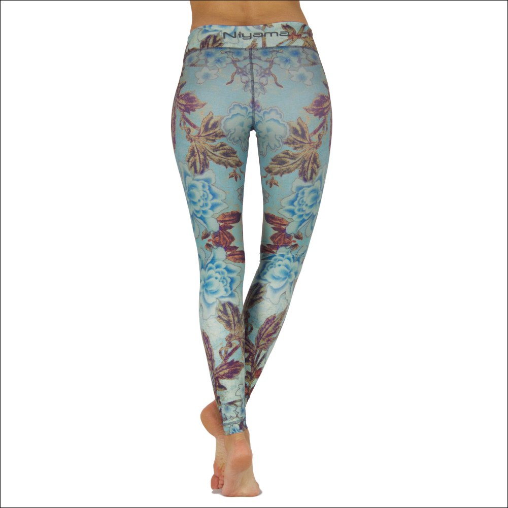 Niyama Yoga Pants Roses and Wine