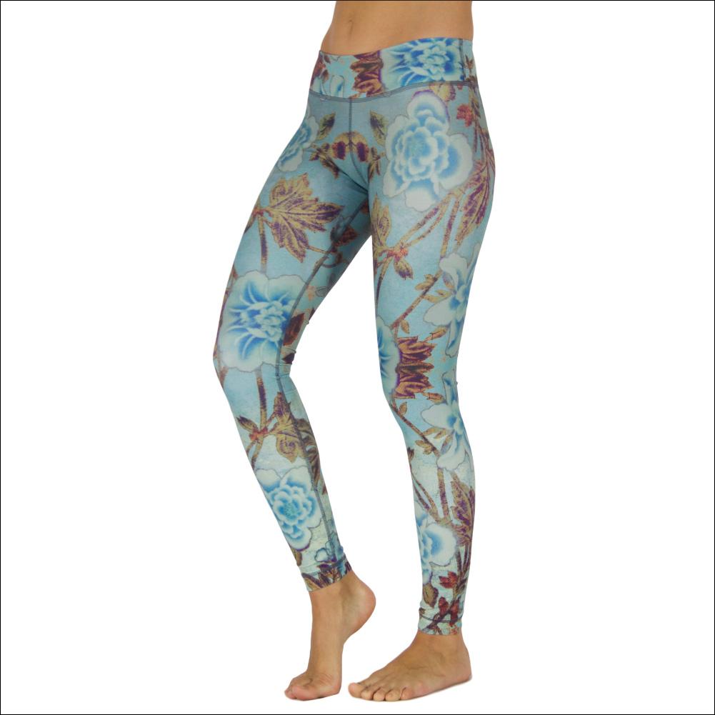 Niyama Yoga Pants Roses and Wine