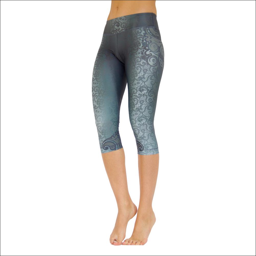 Niyama Yoga Pants Capri Maori Magic - Italian fabric, Made in Europe